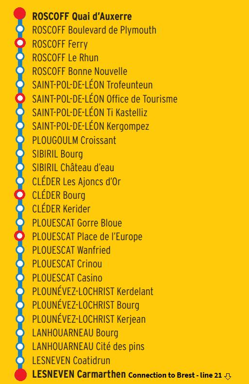 roscoff bus line 25
